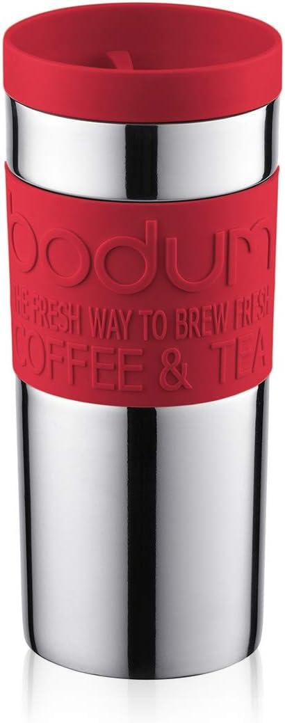 Bodum Travel Mail order Mug Vacuum Stainless Steel 0.35 L - favorite Red
