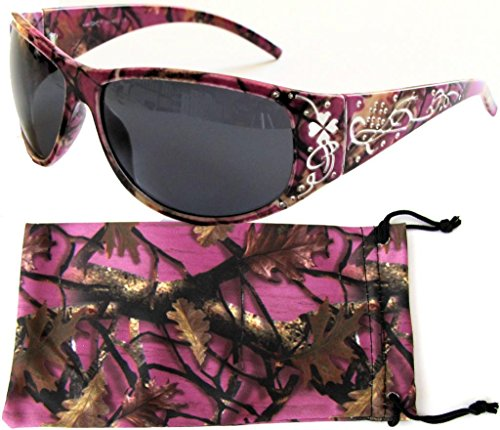 c6cae7a96116 VertX Womens Purple Camouflage Sunglasses Fishing Hunting - Purple Camo  Frame - Smoke Lens - Buy Online in Oman.