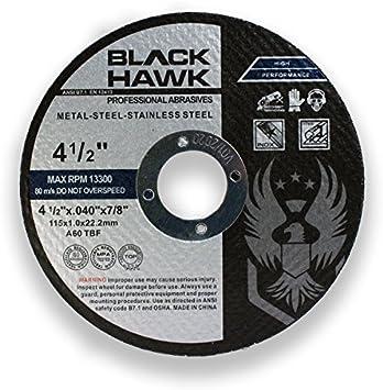 4-1//2 x .040 x 7//8 Type 1 Aluminum Cutting Wheels 25 Pack 25 Pack