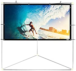 "Pyle 100"" Outdoor Portable Matt White Theater Tv Projector Screen W Triangle Stand - 100 Inch, 16:9, 1.15 Gain Full Hd Projection For Movie Cinema Video Film Showing Outside Home"
