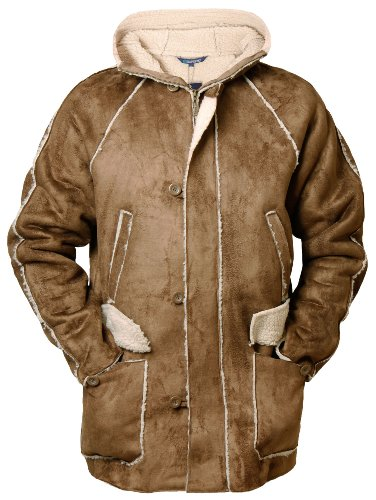 Tan Sherpa (Emporio By Raves Men's Jacket Sherpa Fleece Lined Zipped Winter Warm Small (Chest Approx. 42-44) Tan)
