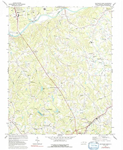 Southeast Eden NC topo map, 1:24000 scale, 7.5 X 7.5 Minute, Historical, 1977, updated 1992, 26.8 x 21.9 IN - - Westfield Map County North