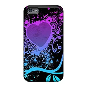 Anti-Scratch Hard Cell-phone Case For Apple Iphone 6s Plus (wQo1980sNLa) Customized Beautiful Purple Heart Series