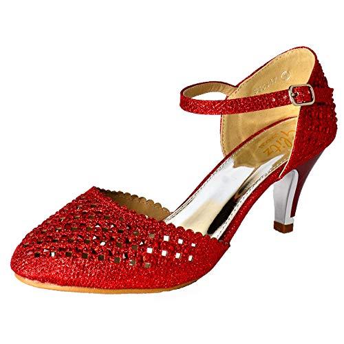 Red Con Donna Cinturino alla Caviglia WeHeartShoes XF1qxHww