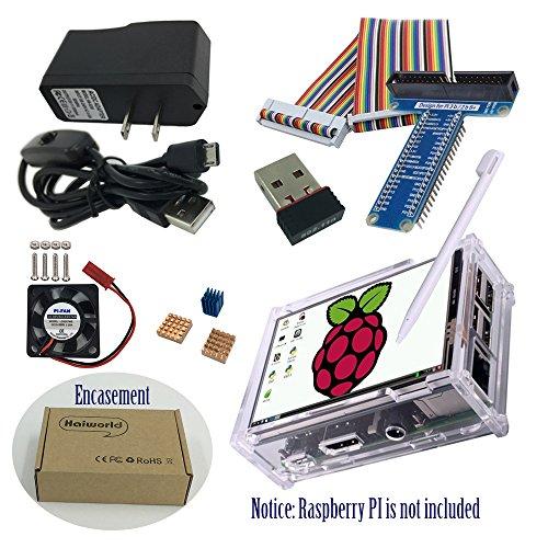 Haiworld RPI Starter Kit For Raspberry Pi 3 b / 2b, 3.5