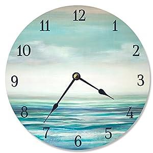 51WXPWhaZZL._SS300_ Coastal Wall Clocks & Beach Wall Clocks