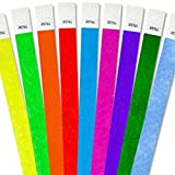 500 TYVEK WRISTBANDS EVENT CLUB BAR PARTY WEDDING BANDS SECURITY BANDS MIXED COLORS