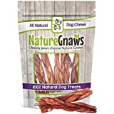 "Nature Gnaws Braided Bladder Sticks 5-6"" (10 Count) - 100% Natural Beef Dog Chews"