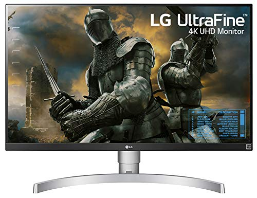 LG 27UK650-W 27 Inch 4K UHD IPS LED Monitor with HDR 10 and Adjustable Stand (Best Size For 4k Computer Monitor)