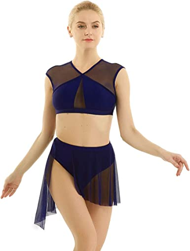 ranrann Conjunto de Danza Lírica para Mujer Irregular Vestido de ...