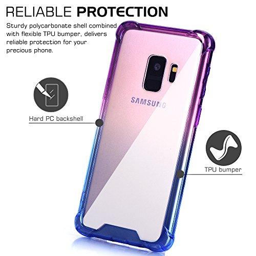 06fbb63296 BAISRKE Galaxy S9 Case, Blue Purple Gradient Shock Absorption - Import It  All