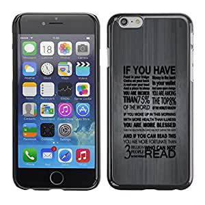 TopCaseStore Rubber Case Hard Cover Protection Skin for Apple iPhone 6 (4.7') - Deep Typography Message