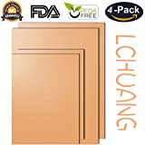 Copper Grill Mat - Set of 4 Non-stick Copper BBQ Grilling Mat & Baking Mats - FDA Approved, PFOA Free, Easy to Clean and Reusable - As Seen on TV