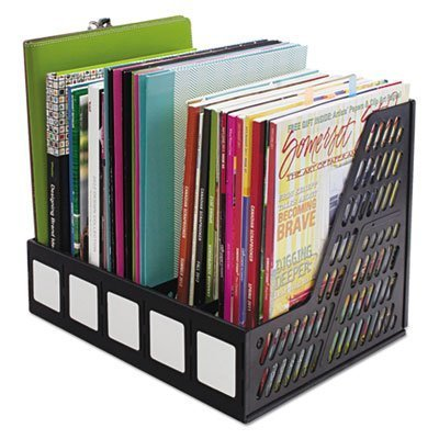 Literature File, Five Slots, Black, Sold as 1 Each