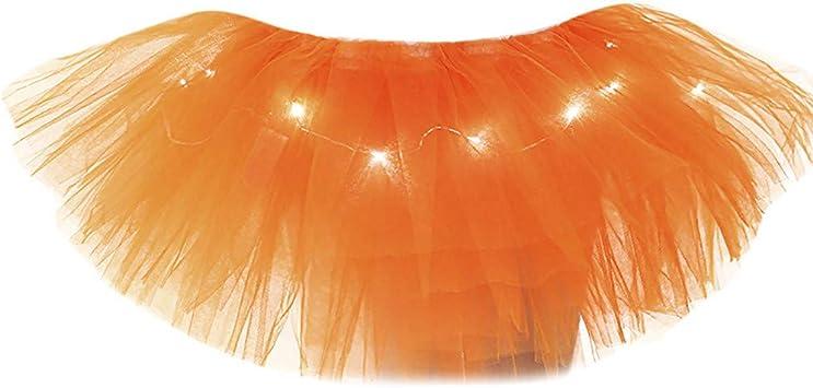 QHJ - Falda de tul para mujer, tutú, malla, 5 capas, falda de tul con ...