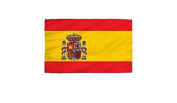 Toalla de playa con diseño de la bandera de España, 91 x 147 cm: Amazon.es: Hogar