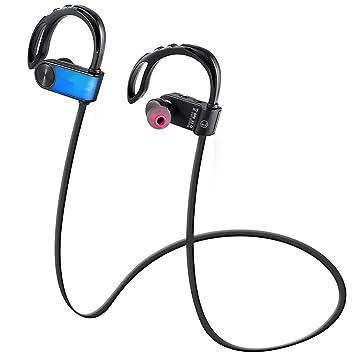 Joyeer Auricular de deporte inalámbrico Bluetooth Anwer / colgar llamada auricular colgando de auriculares de música