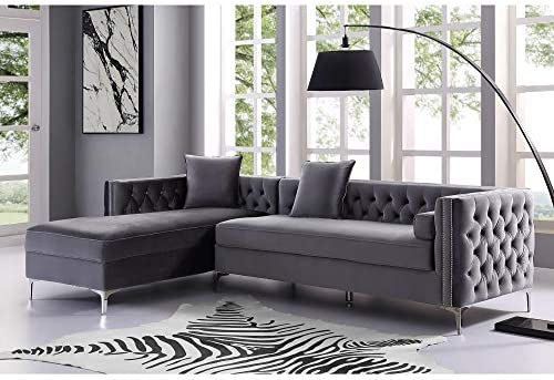Inspired Home Grey Chaise Sectional Sofa - the best living room sofa for the money