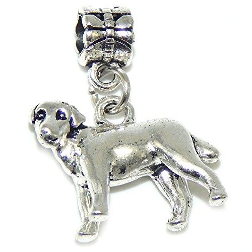 GemStorm Silver Plated Dangling 3D Dog For European Snake Chain Bracelets 00789046