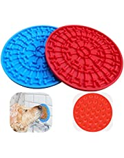 Bangp Dog Lick Mats,Slow Feeder Dog Licking Mat & Dog Grooming Distraction,Dog Lick Pad Bath Toy for Pet Bathing and Grooming,Slow Treat Dispensing Mat Buddy Treat Mat with Powerful Suction Cups