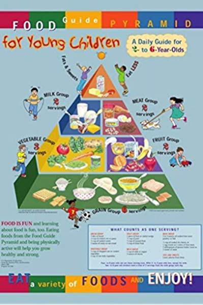 Amazon Com Food Guide Pyramid For Young Children Poster 24x36 Detailed Colorful Informative Healthy Lifestyle Posters Prints