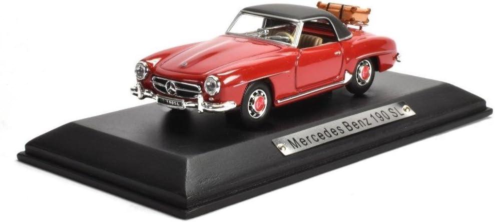 Mercedes Benz 190 Sl Rot 1 43 Atlas Diecast Metall Modellauto Neu Und Box Spielzeug