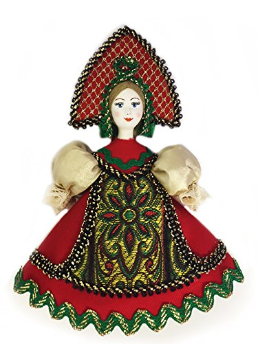 (Religious Gifts Russian Doll With Kokoshnik Porcelain Face Christmas Ornament 5 Inch)