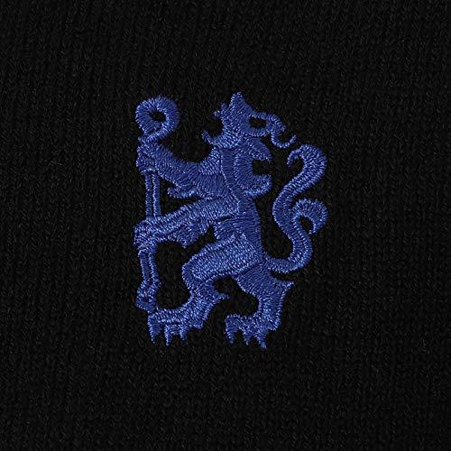 De Tricoté Rond Football Lion Fc Chelsea À Homme V col Blason Thème En Officiel Noir Forme Col Avec Pull xpw40ngwOq