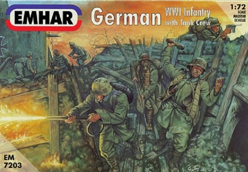(Emhar Models German WWI Infantry Model Building Kit with Tank Crew)