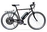 Scoozy-500 Electric Bike, Direct Drive Motor w/ 14Ah Li-Ion Battery, Lightweight Single Speed Adult Bicycle