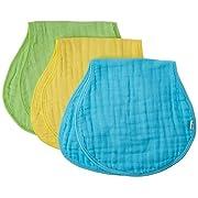 green sprouts Muslin Burp Cloths made from Organic Cotton,Aqua Set