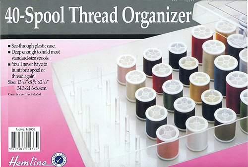 Hemline H3002 | Spool Thread Organiser | 34.3 X 21.6 X 6.4cm Groves