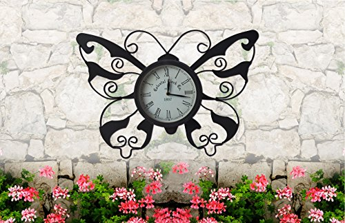 Moonrays 95008 Butterfly Garden Clock by Moonrays (Image #1)