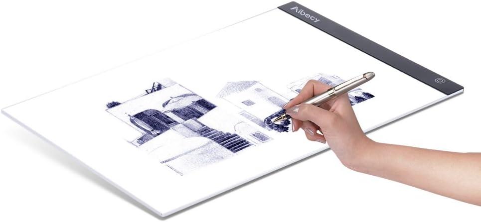 Entweg mesa de luz almohadilla de luz LED A3 Artcraft Tracing Light Box Tracer Copy Board Brillo alimentado por USB Regulable para artistas Dibujar Bocetos Animaci/ón Dise/ñar tatuaje DIY Pintura