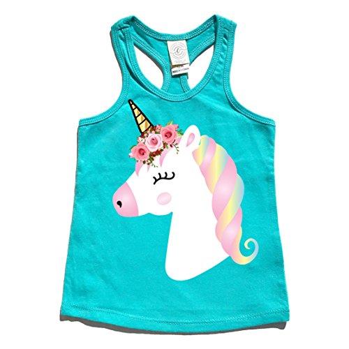 Cassidy's Closet Cute Girl's Unicorn Tank Top Birthday Shirt