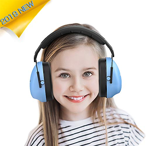 Kids Ear Protection Safety Earmuffs - Noise Reduction Hearing Protection for Kids Toddlers Children (Blue)