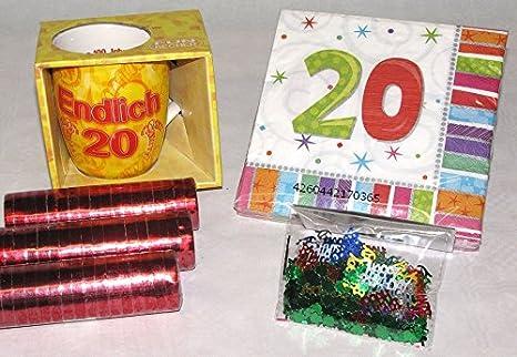 20 años de veinte de decoración-juego de 6 piezas para ...