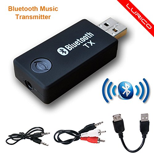 Bluetooth Transmitter, LURICO 3.5mm Portable Stereo Audio wireless - Bluetooth Usb Receiver For Tv