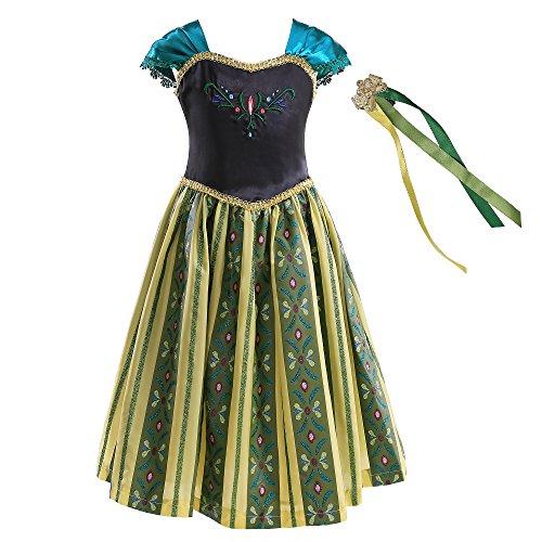 Pettigirl Girls Anime Custume Coronation Classical Shinning Dress with Haircomb -