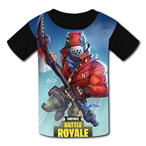 Youth Unisex Kids Fashion for-Tnite 3D Creative Tees Short Sleeve T-Shirts M ()