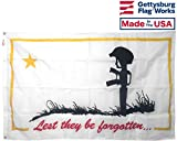 3×5′ Lest They Be Forgotten Flag, All Weather Outdoor Nylon, Made in the USA