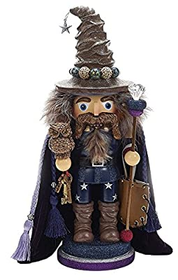 Kurt Adler 15 in. Hollywood Wizard Nutcracker with Owl