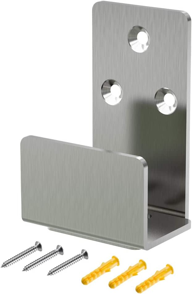 Guía de piso resistente de acero inoxidable para puerta corredera de granero guía inferior para montaje en la pared
