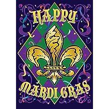 "Toland Home Garden 1012282 Mardi Gras Confetti 28 x 40 Inch Decorative, (28"" x 40""), Double Sided House Flag"