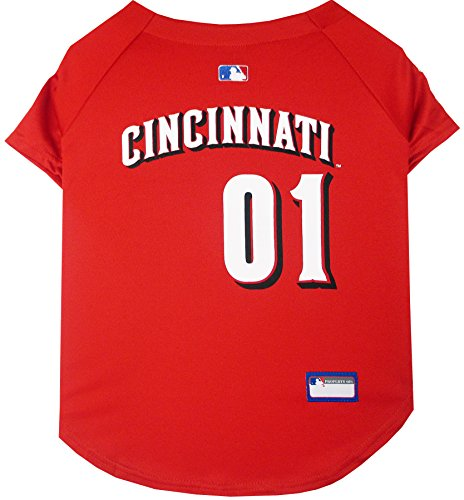 Pets First MLB Cincinnati Reds Dog Jersey, Small