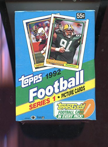 (1992 Topps Football Wax Pack Box Series 1 One Card Set)