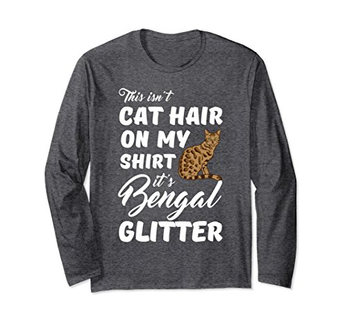 Unisex This isn't cat hair on my shirt it's Bengal glitter XL: Dark Heather