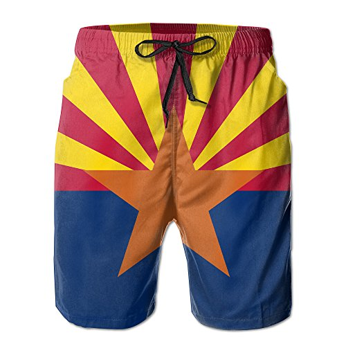 a2870a78fa079 Arizona Flag AZ Beach Shorts Borad Shorts Swim Trunks With Pocket. Ava And  Viv, Top Brands Plus Size Swimwear