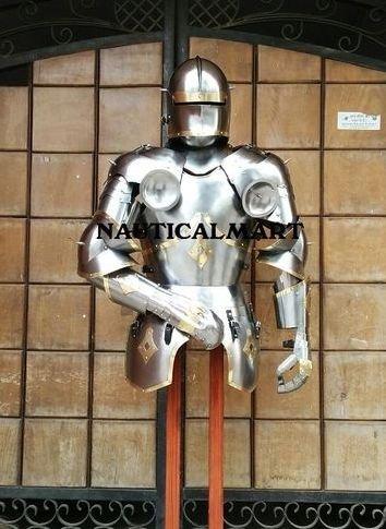 Nauticalmart Plate Armour Italian Gothic Half Suit Of Armour Renaissance Halloween Costume B079GPCZV2