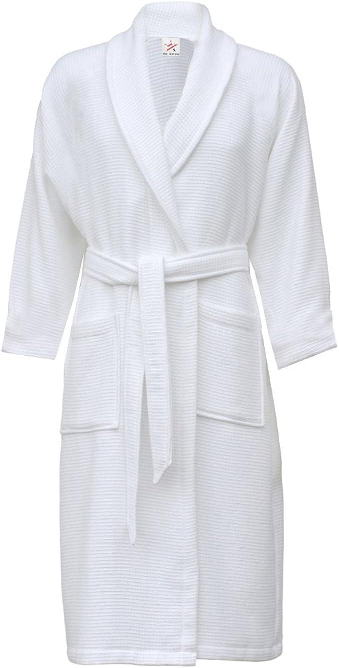 nero//crema a righe LUSSO 100/% COTONE VELOUR Robes collo sciallato
